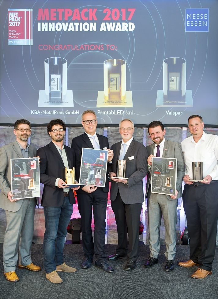 PrintabLED gewinnt den METPACK Innovation Award 2017 in Gold